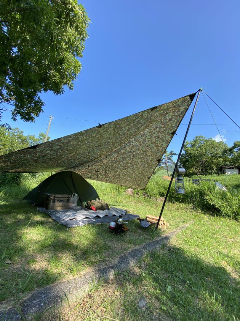 泉水キャンプ場でキャンプ